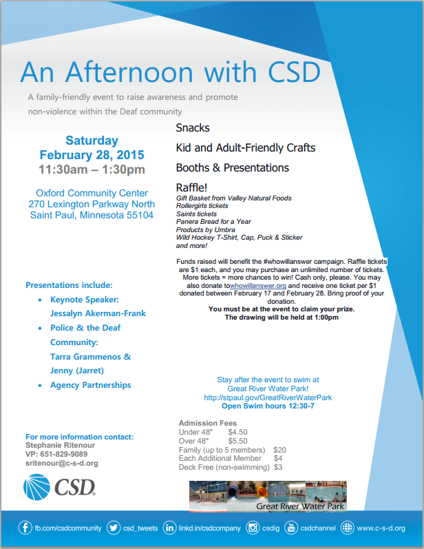 An Afternoon with CSD